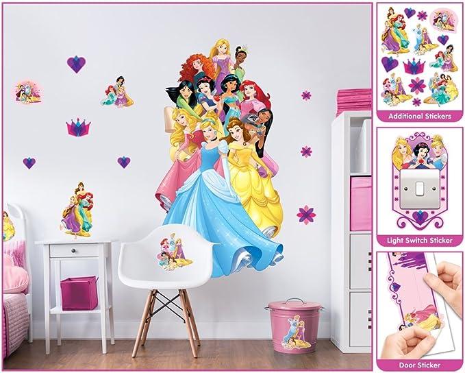 Decofun Stickers Princesses muraux repositionnable Disney Maxi Format 85 cm Neuf