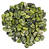 "Hypnotic Gems Materials: 1 lb Nephrite Jade Tumbled Stones from Brazil - 1/2"" to 3/4"" Average - Bulk Natural Polished Gemstone Supplies for Wicca, Reiki, and Energy Crystal Healing"