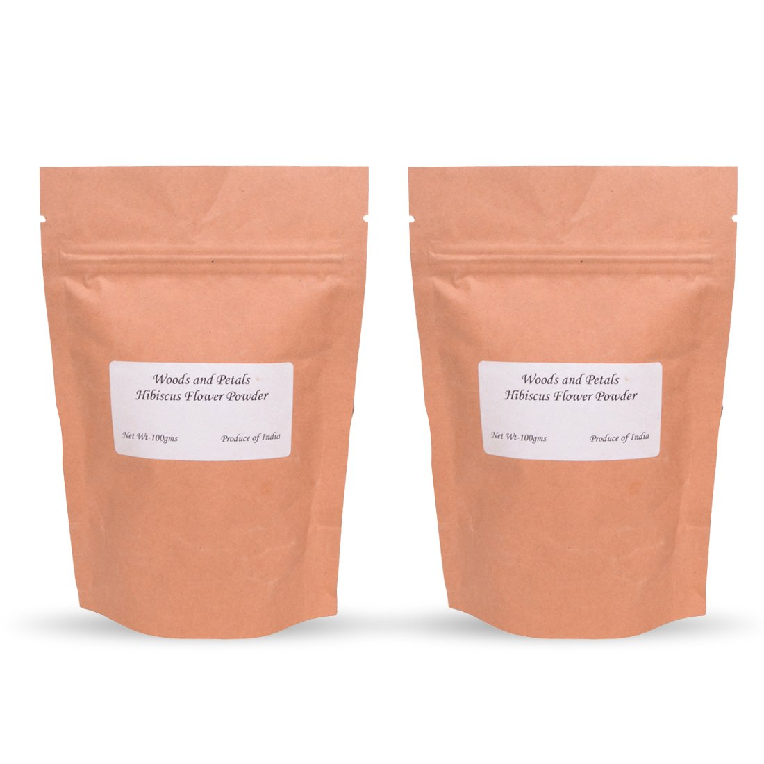 Hibiscus Flower Powder (set of 2) for hair and skin woods and petals