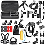 Neewer 31-In-1 Action Camera Accessory Kit for GoPro Hero Session/5 Hero 1 2 3 3+ 4 5 SJ4000 5000 6000 DBPOWER AKASO VicTsing APEMAN WiMiUS Rollei QUMOX Lightdow Campark And Sony Sports DV and More