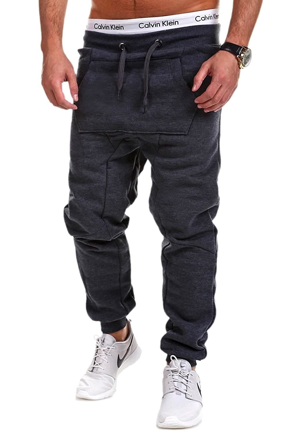BEHYPE Men's Active Jogging Sweat Pants Trousers Low Crotch P81