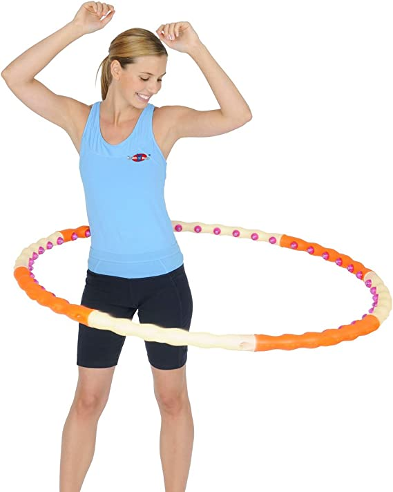 Nologo Hula Hoop Fitness Exercice Adultes Doux Hoola Hoop Massage Sport Exercice Entra/înement Cercle Boucle /Éponge Amovible 6//7//8 Tube