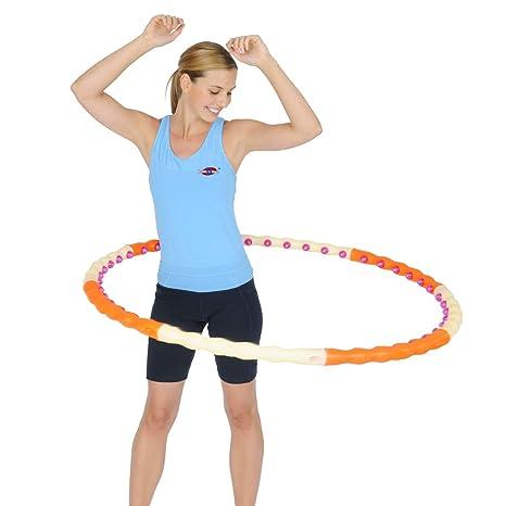 amazon com magnetic health hula(hoola) hoop ii weighted exerciseamazon com magnetic health hula(hoola) hoop ii weighted exercise sports waist trimmers sports \u0026 outdoors
