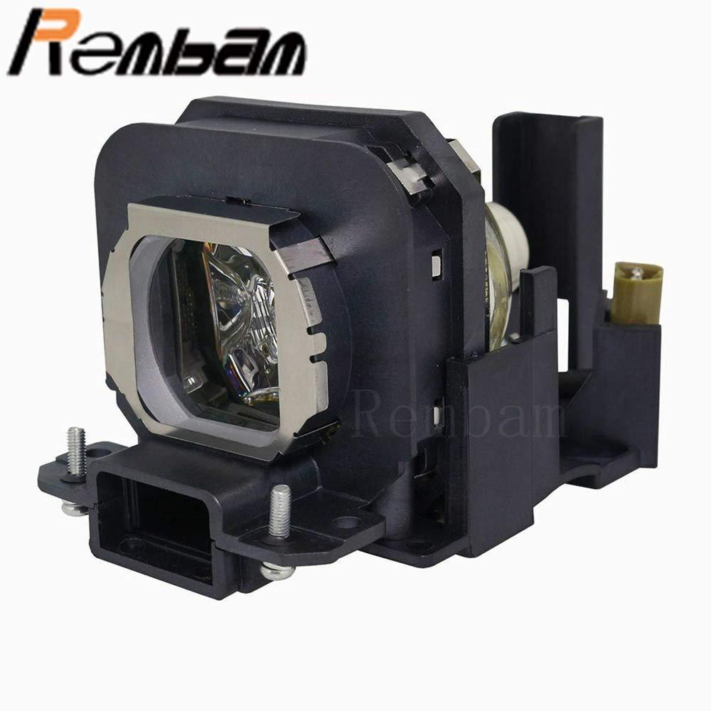 Rembam ET-LAX 交換用プロジェクターランプ ハウジング付き Panasonic PT-AX100 PT-AX100E PT-AX200 PT-AX200E PT-AX200U   B07MXF4M2B