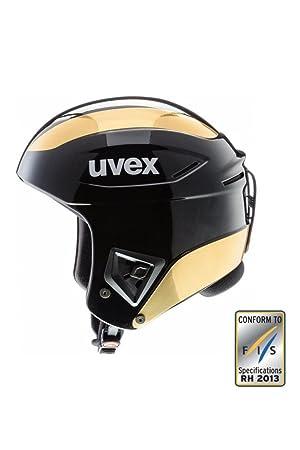 Uvex – Race Casco de esquí (Negro/Oro) 5