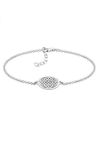 Elli Damen Schmuck Echtschmuck Armband Gliederarmband Ornament Lebensblume  Sterling Silber 925 Länge 17 cm 087d492080