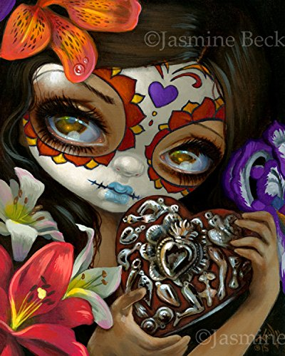 """""""Milagros: Corazon"""" SIGNED Glossy Photo Art Print by Jasmine Becket-Griffith ()"""