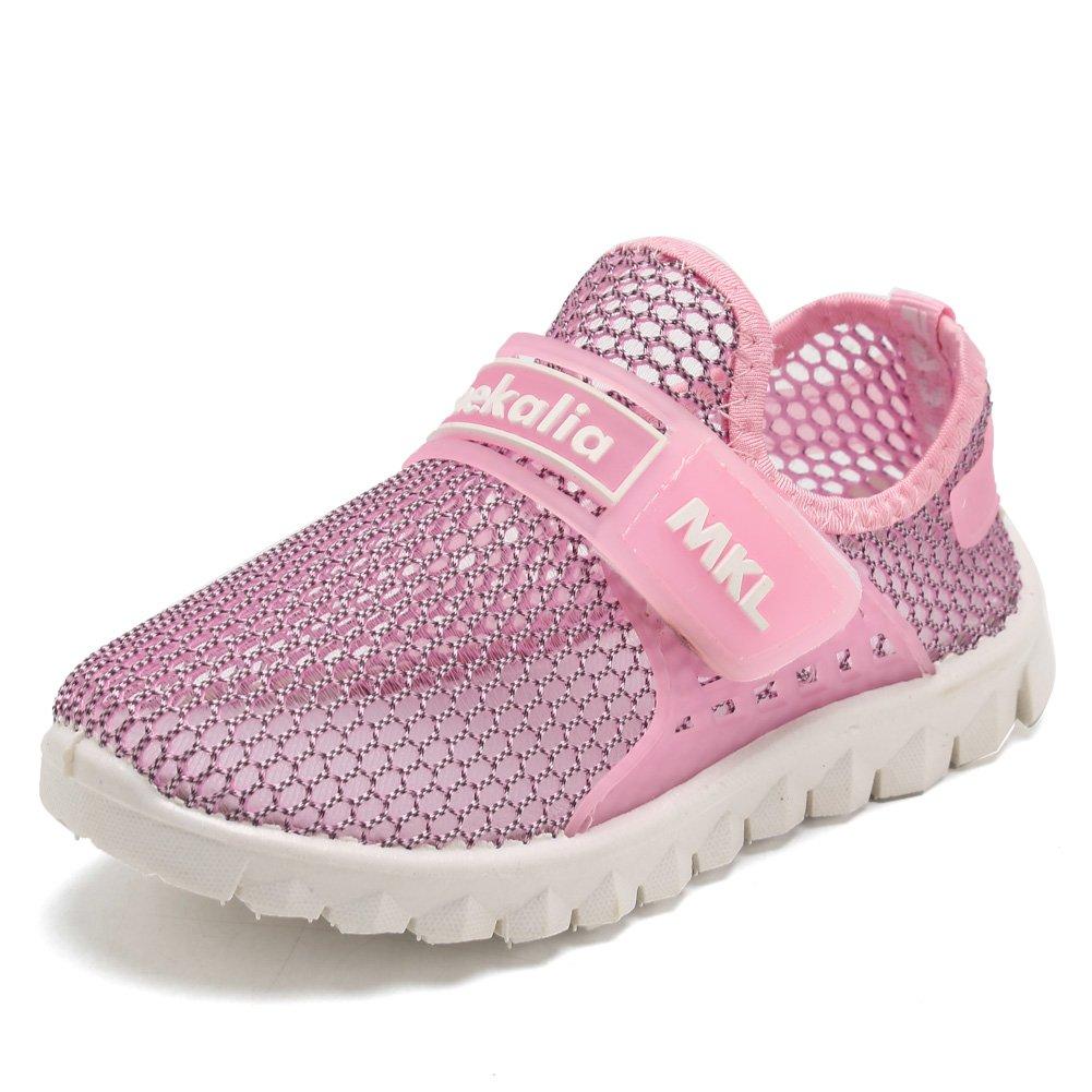 CIOR Boys Girls Breathable Lightweight Sneakers Antislip Shoes For Running Walking Toddler/Little Kid/Big Kid SC276 Pink 27 61CXGdW