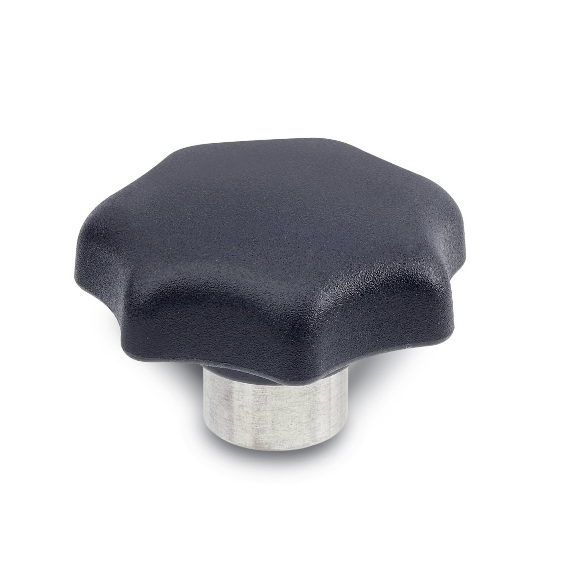 JW Winco Glass Filled Nylon Plastic Tapped Hand Knob with Stainless Steel Hub, Threaded Hole, 1/2''-13 Thread Size x 45/64'' Thread Depth, 1-31/32'' Head Diameter (Pack of 1)