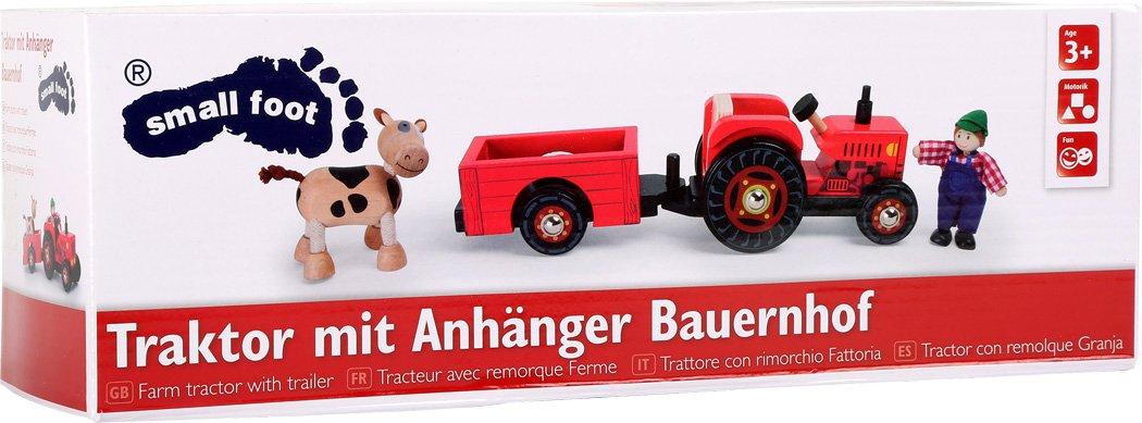 Holzspielzeug Bauernhof+++ +++Legler Traktor mit Anhänger++ Bauernhof