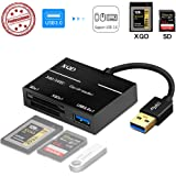 XQD/SD Card Reader Adapter, USB 3.0 Dual Slot Flash Memory Card Reader Connector High Speed(up to 5Gbp/s) Write SD(HC/XC…