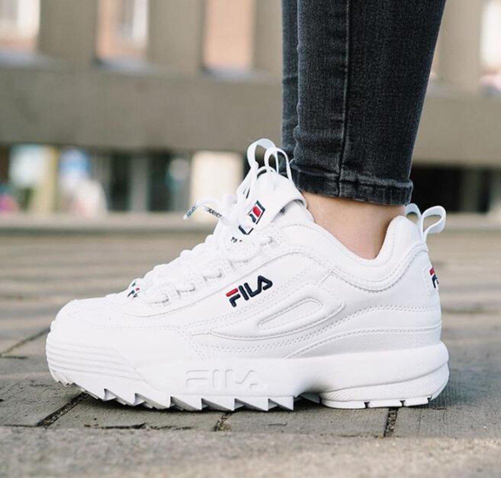 Zapatos Deportivos Femeninos FILA Disruptor II - Zapatos Casual Femeninos Bajos - Zapatos Deportivos Femeninos Calzado Deportivo Ligero Zapatos Deportivos ...