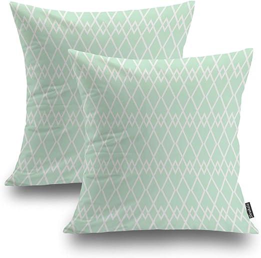 Amazon.com: Shrahala Fashion Decorative Pillow Covers, Mint Green