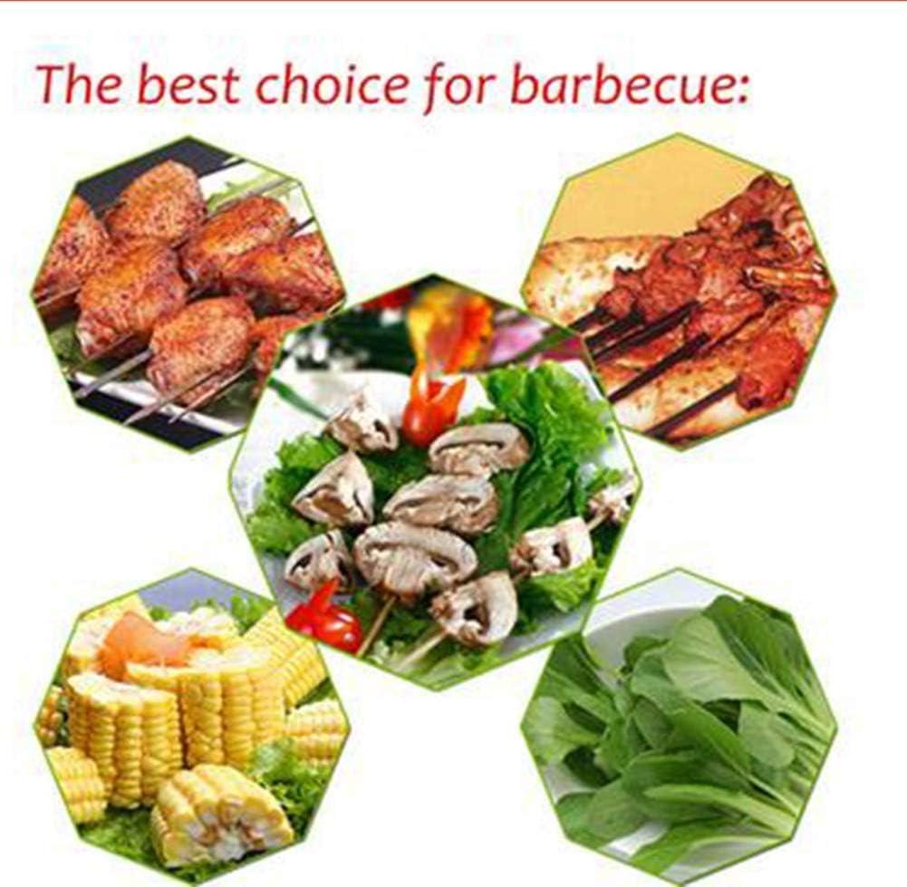 Ogquaton /Barbecue barbecue brochettes brochettes fourchettes en acier inoxydable grillades brochettes brochettes b/âtons barbecue outil r/éutilisable ensemble de 30 cr/éatif et utile