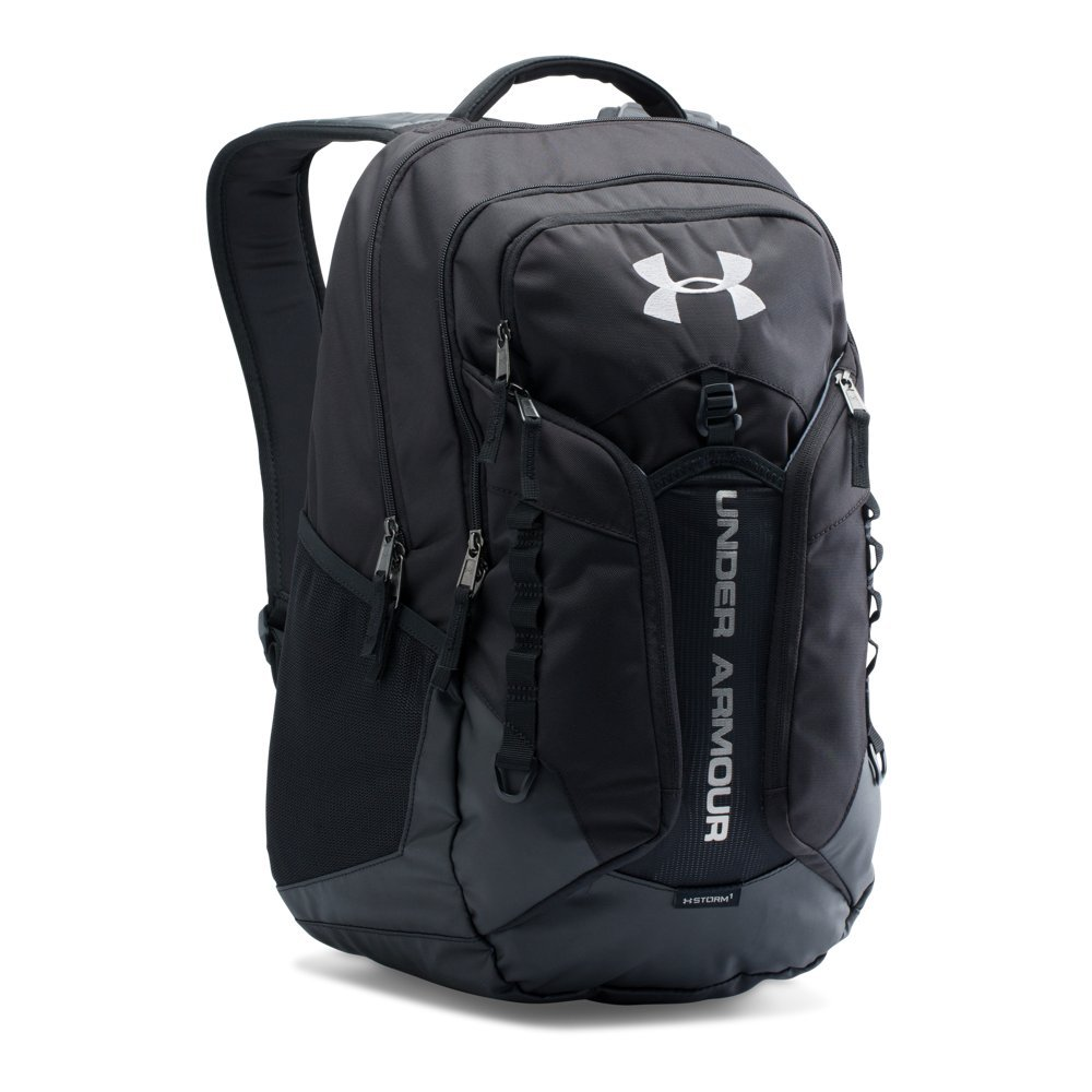 Under Armour Storm Contender Backpack, Black /Steel, One Size