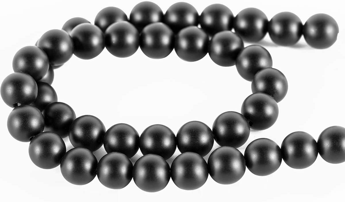 Bracelets Yoga Bracelets. Onyx Beads for Making DIY Gifts 6mm Onyx Beads,MOKYYus Natural Black Matte Onyx Beads Necklaces