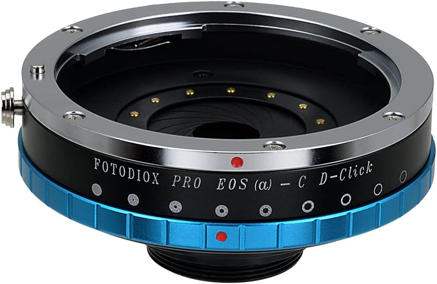 Fotodiox Pro IRIS Lens Mount Adapter Compatible with Canon EOS EF Full Frame Lenses to C-Mount Cameras