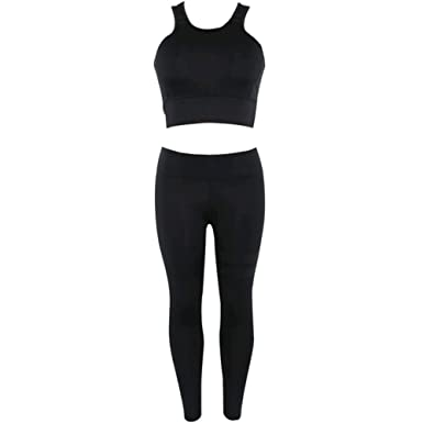 62593c5cd47ff Premium Yoga Clothes Sets - Active Wear Tank Top Bra and High-Waist Leggings