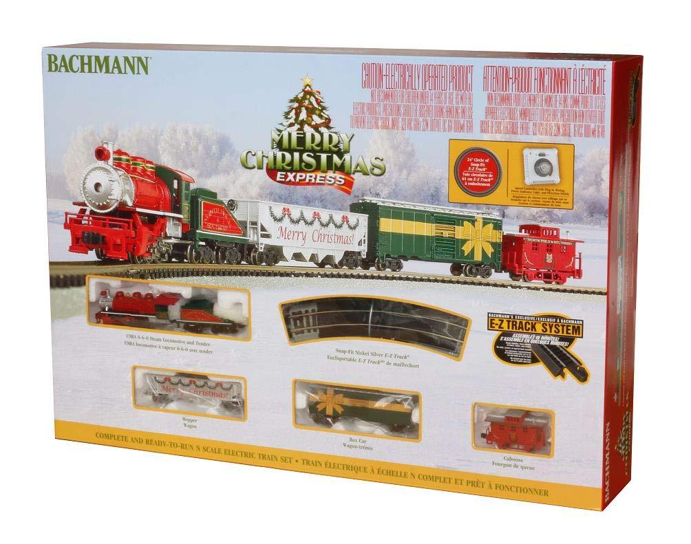 Bachmann Trains - Merry Christmas Express Ready to Run Electric Train Set - N Scale