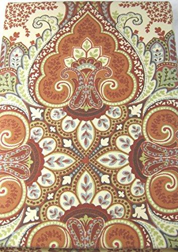 Set of 4 Tahari Home Dinner Napkins Baroque Medallions Mult Color on Cream - 20