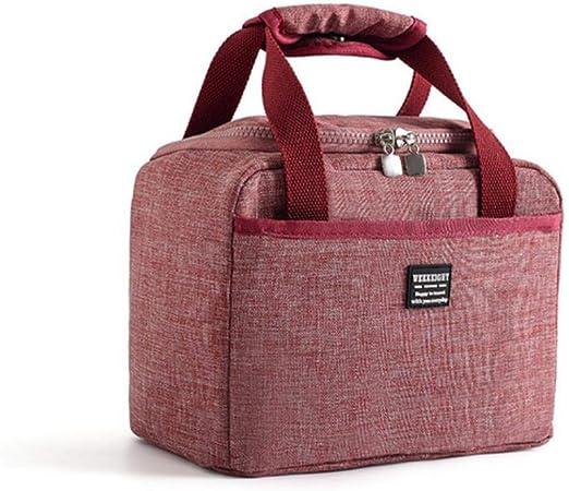 Ningb Oxford Aislante Bolsa de refrigeración Aislamiento Portátil Contenedor de Comida de Hielo Organizador Almuerzo Picnic Box Ice Pack Therma Bag refrigerador, Rojo: Amazon.es: Hogar