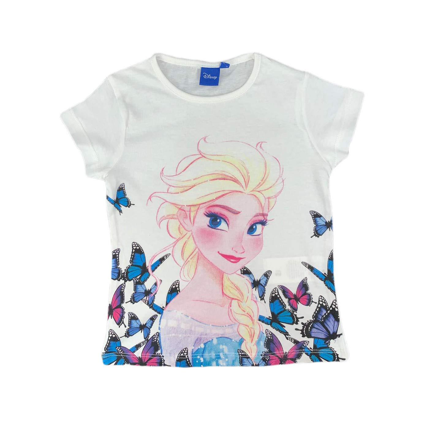 Disney Frozen T-Shirt Stampata Ufficiale Maglia Bambina da 4 a 8 Anni 0922