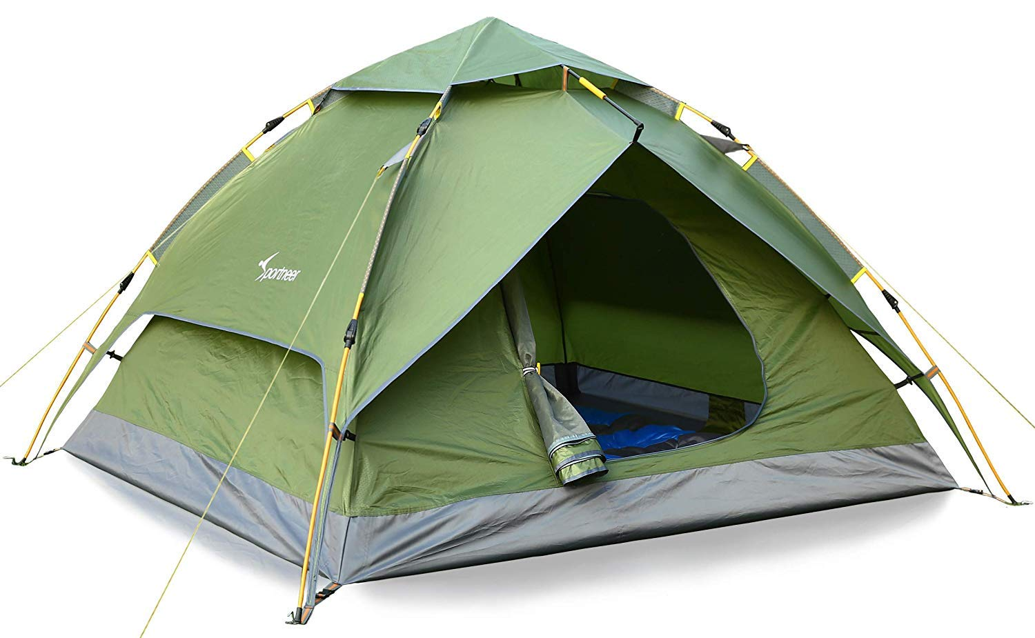 Sportneer Camping Tent 2-3 Person Automatic Instant Pop Up Waterproof Camping Hiking Travel Beach Tents for Family Groups by Sportneer