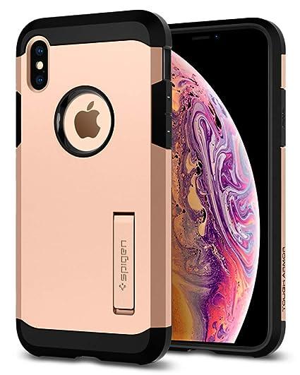 the best attitude d55b7 2df1f Spigen Tough Armor Designed for Apple iPhone Xs Case (2018) / Designed for  Apple iPhone X Case (2017) - Blush Gold