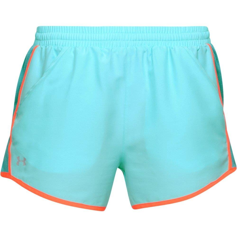 Under Armour womens Fly By Running Shorts, Tropical Tide (425)/Reflective, X-Small