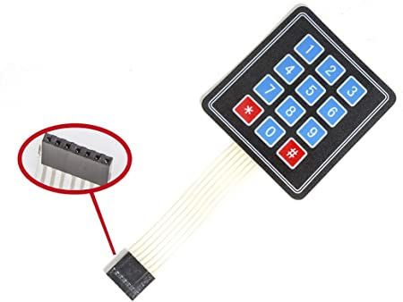 12 teclas matriz pantalla Teclado Switch Keypad Keyboard para Arduino Raspberry Pi