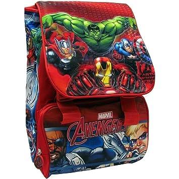 TrAdE shop Traesio®® Mochila Escolar Extensible Avengers Marvel Kit Completo Super Héroes + Estuche 3 Cremallera: Amazon.es: Electrónica