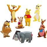 くまのプーさん USAディズニーストア限定 PVC フィギュアセット/Disney Winnie the Pooh Figure Playset 2018 ディズニー [並行輸入品]