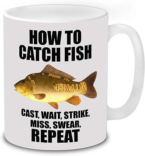 I/'d Rather Be Fishing Funny Coffee Mug Fishing Accessories Christmas Birthday
