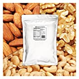 Daily Nuts Triple Mix 3 LB (Almonds (Dry-Roasted), Cashews (Dry-Roasted), Walnuts) No Artificials, Unsalted, Natural, Premium Nuts