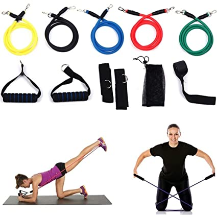 Amazon.com : 11 pcs Fitness Resistance Bands Yoga Pilates ...
