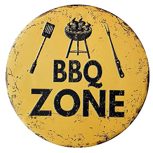 New Concept BBQ Zone Shabby - Cartel Decorativo para Pared ...