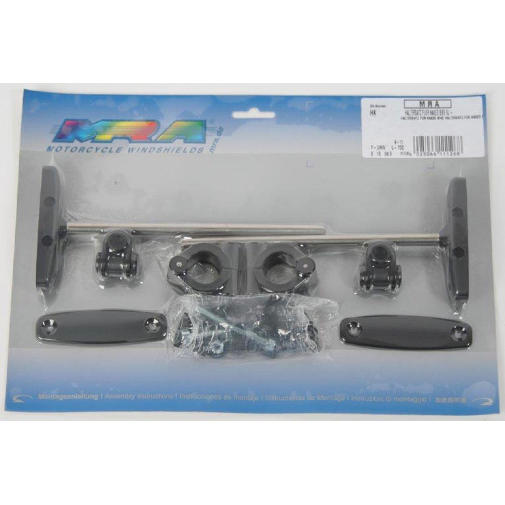 MRA HK Mounting kit for MRA naked bike windscreens universal for 1-inch or 7//8-inch diameter bar