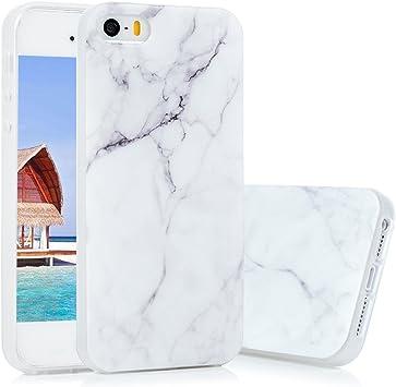 KASOS Coque pour iphone 5S, iphone 5 5s Se Housse Case Bumper Étuide Protection en TPU Silicone IMD Decoration Ultra Slim Léger Antichoc- Marbre ...