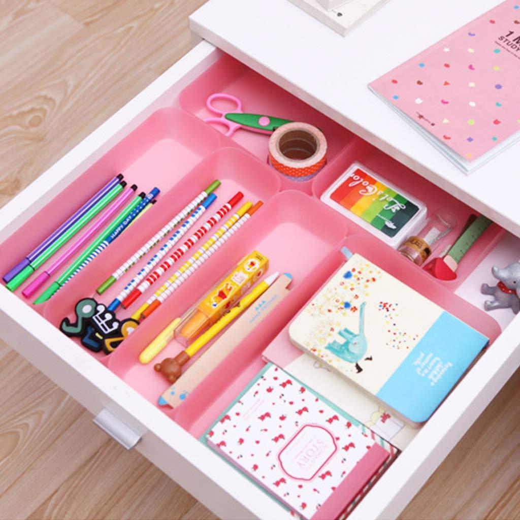 JUNESUN Drawer Kitchen Cutlery Tableware Case Makeup Storage Box Home Organizer Plastic by JUNESUN (Image #2)