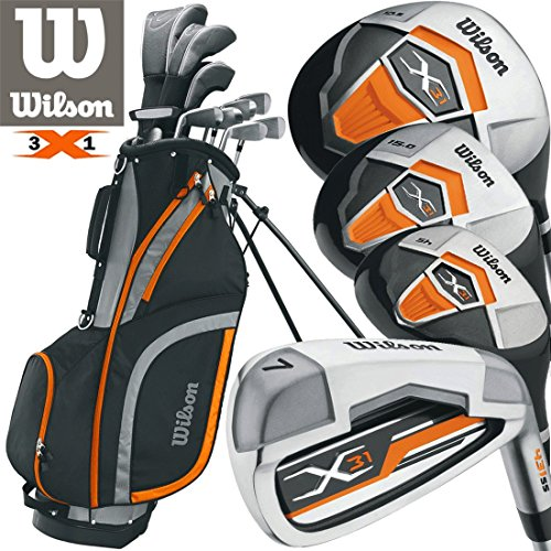 Wilson Profile XD Mens Complete All Graphite Golf Package Set Deluxe Stand...