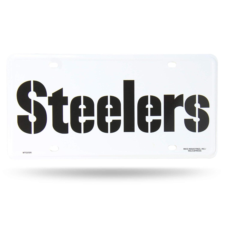 Rico Industries NFL Pittsburgh Steelers Metal License Plate Tag