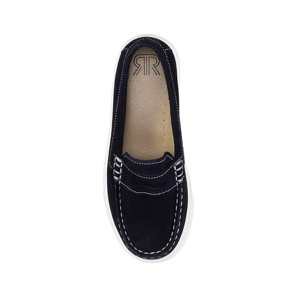 La Redoute Collections Big Boys Leather Loafers Blue Size 37