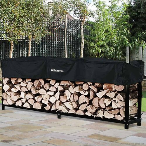 96'' Heavy-Duty Woodhaven Firewood Rack with Cover by Woodhaven