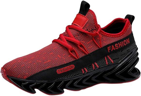Makalon - Zapatillas de Seguridad para Hombre, Zapatillas de Running, Deporte, Fitness, Gimnasio, Exterior, Zapatillas de Running, Rojo (Rojo), 42 EU: Amazon.es: Zapatos y complementos