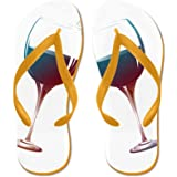 CafePress - Friends And Wine The Older The Better - Flip Flops, Funny Thong Sandals, Beach Sandals