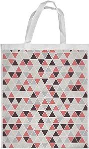 كيس تسوق، بتصميم مثلثات ملونة ، مقاس صغير