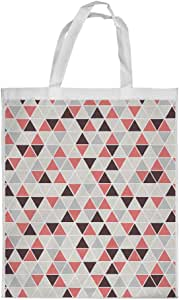 Colorful triangles Printed Shopping bag, Small Size