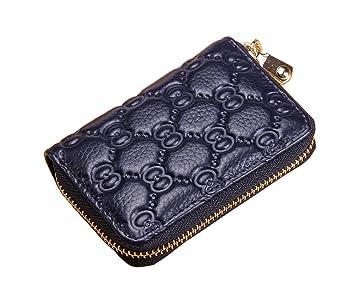 ... RFID bloqueo tarjetas funda de piel tipo cartera tarjeta pantalla seguro de trabajo pequeño bolso para viajes compras: Amazon.es: Oficina y papelería