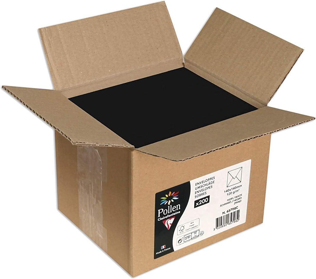 Un lot de 4 mini boites assorties dimensions 8x8x6 cm + 8,5x8x6 cm + 10x7x6 cm et 10x7x6 cm Noir et or Clairefontaine K-24837-BXC
