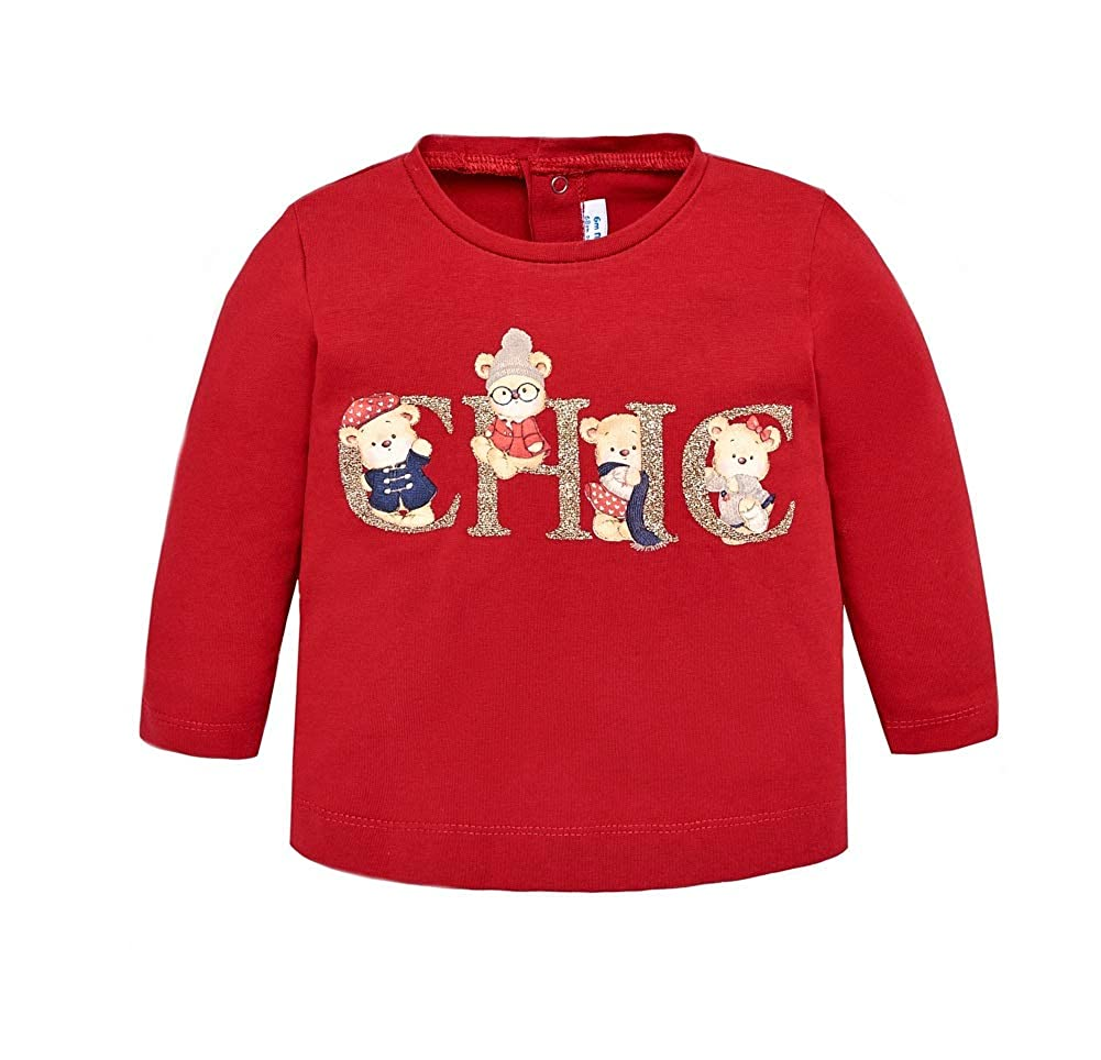 Mayoral T-Shirt Langarm Teddy rot